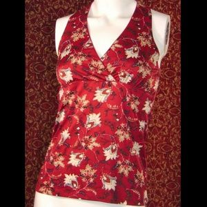 INTERNATIONAL CONCEPTS floral sleeveless blouse S